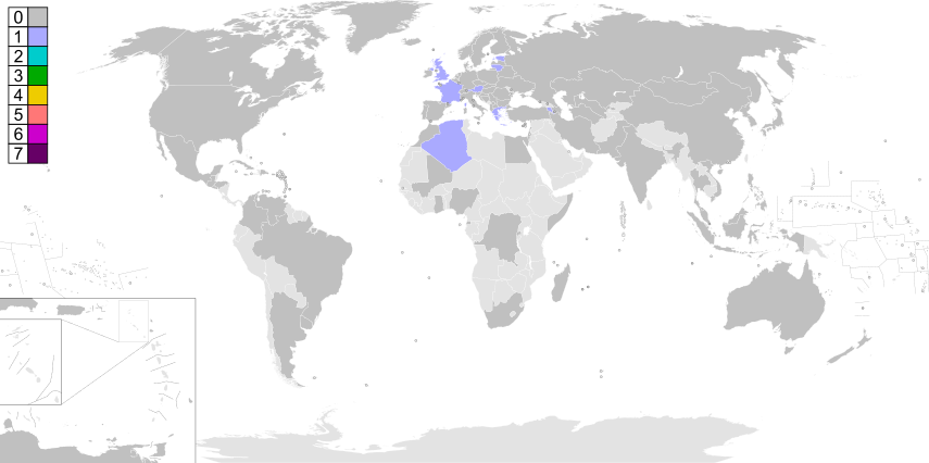 EarthVision Winners Map