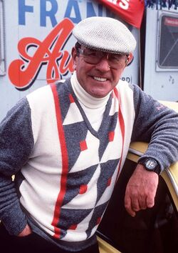 Frank Butcher and his new car lot 1989