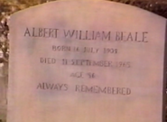 Albert Beale's Headstone