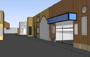 Easties sketchup model tube station