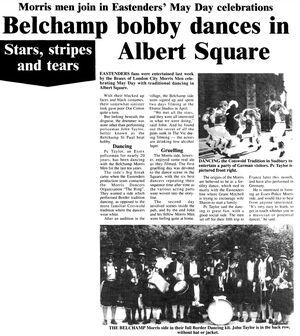 EastEnders Belchamp Morris Men News Article