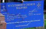 St Cuthberts Sign