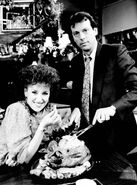 Angie Watts and Den Watts (25 December 1986)