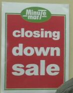 Minute Mart Closing Down Sale Poster