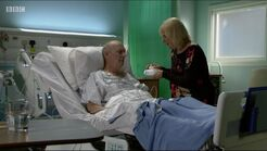 Les Coker in Hospital (30 June 2016)