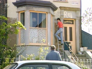 1 Albert Square - Rod repaints the exterior (29 September 1987)