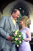 Peggy Mitchell and Frank Butcher Wedding (1 April 1999)