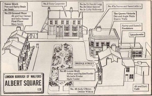 List of Synonyms and Antonyms of the Word: no 5 albert square Eastenders Map Of Albert Square on