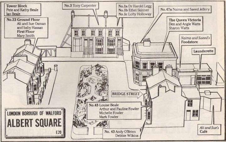 Maps | EastEnders Wiki | FANDOM powered by Wikia Eastenders Map Of Albert Square on