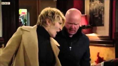 Eastenders The Carters arrive and show Phil Mitchell up-0