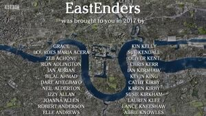 EastEnders 2017 End of Year Credits (29 December 2017)