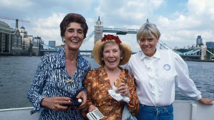 Dot Cotton, Ethel Skinner and Pauline Fowler on day out (8 September 1987)