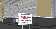 Easties sketchup model walford hospital entrance