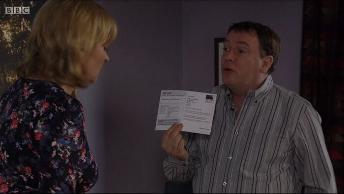 Ian going to vote with his Poll Card (7 May 2015)
