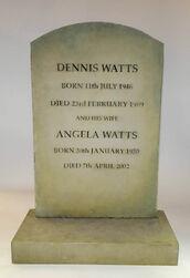 Den Watts and Angela Watts Headstone