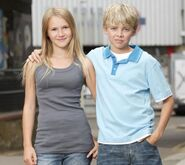 Lucy Beale (Melissa Suffield) and Peter Beale (Thomas Law)