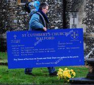 St Cuthberts Sign 2
