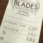 Blades Receipt (2015)
