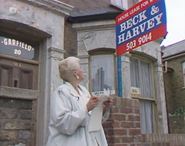 20 Albert Square - Pat Butcher notes that the lease is up for sale (20 July 1989)