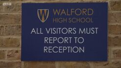 Walford High School Sign (23 January 2018)