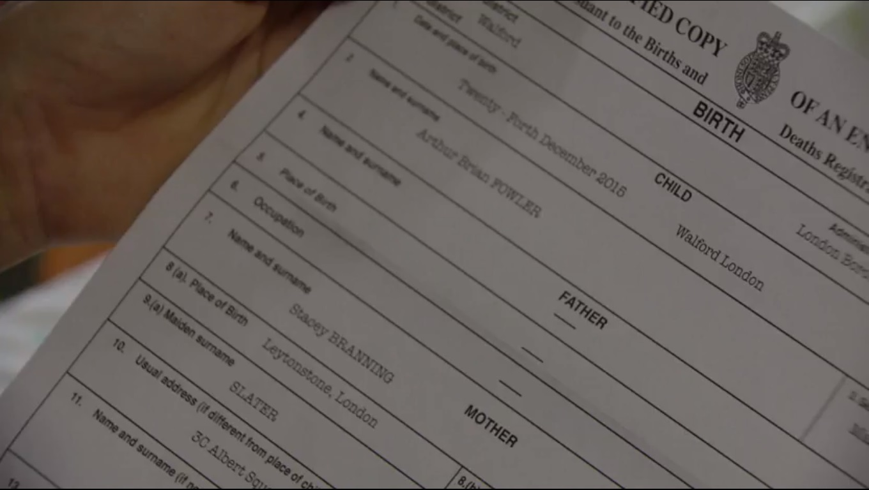 Image arthur brian fowler birth certificateg eastenders arthur brian fowler birth certificateg aiddatafo Images