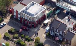 Albert Square Aerial Shot