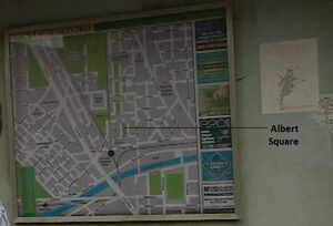 EastEnders A-Z DVD Map Albert Square Location(2005)