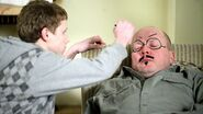 Jay Draws on Phil Mitchell Face (4 May 2009)