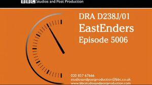 EastEnders VT Clock Ep5006 (29 January 2015)