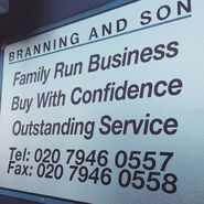 Branning and Son Sign
