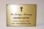 Den Watts Plaque