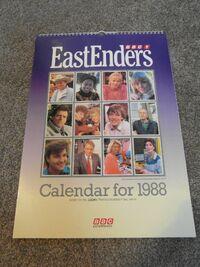 EastEnders 1988 Calendar Front