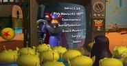 Luxo ball on Toy Story 2's Main Menu
