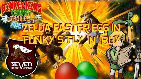 The Legend of Zelda Easter Egg in Donkey Kong Country Tropical Freeze - Wii U