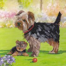 Dogs - Crystal Art Card Kit (18cm High Quality Card)