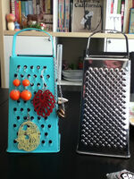 Grater before & after