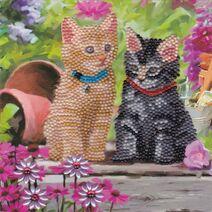 CCK-A53 Cat Friends Crystal Art Card Kit