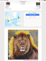 Recive postcard crystal arts lion