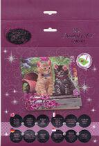 Cat Friends Crystal Art Card Kit - 18 x 18cm