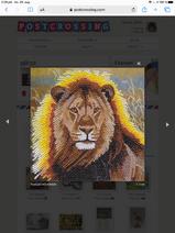 Postcrossing Crystal Art lion postcard