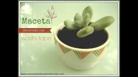 DIY Maceta decorada con washi tape Flower pot decoration with washi tape