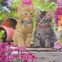 Craft Buddy Cat Friends Crystal Art Card Kit CCK-A53
