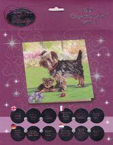 Craft Buddy Crystal Art Yorkie Terrier Dogs