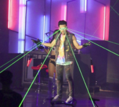 Joel's light-up performance during the concert