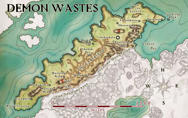 Map Of The Demon Wastes