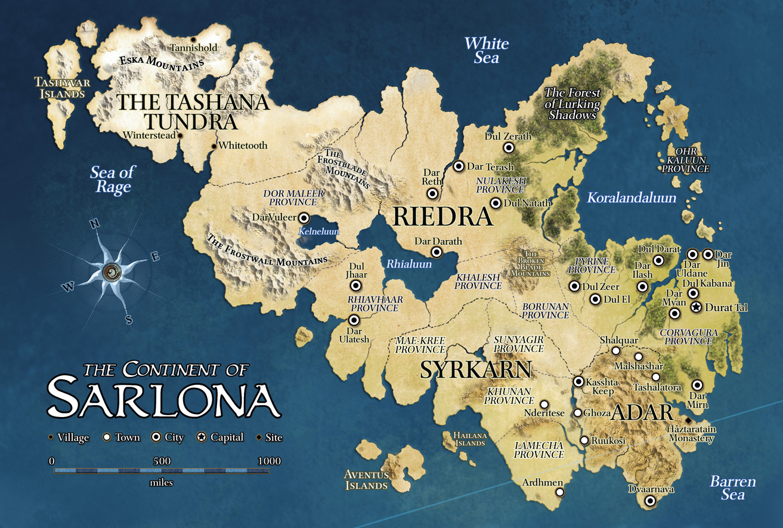 Captivating Sarlona Map