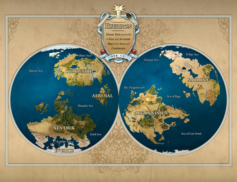 High Quality Eberron Map