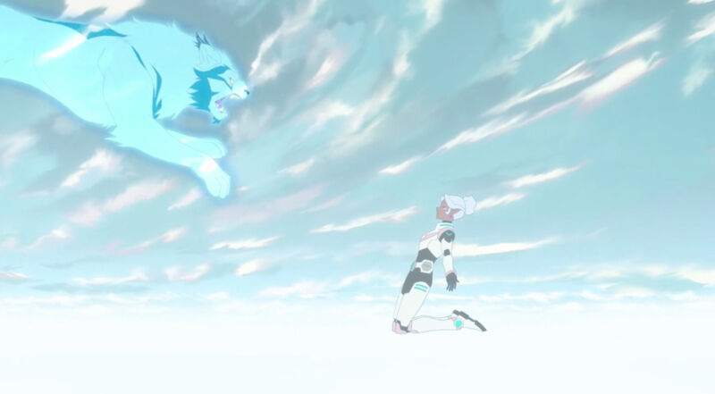 Allura and the white lion in the psychic realm