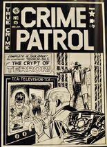 Crime Patrol Vol 1 15 Original Cover Artwork