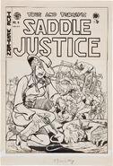 Saddle Justice Vol 1 5 (3) Original Cover Art